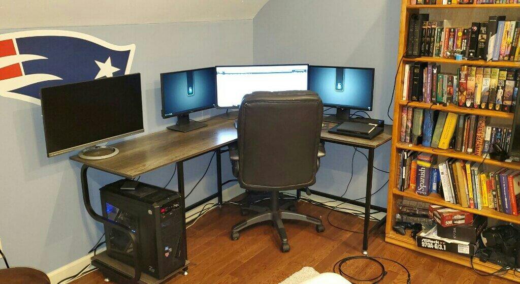 L-shaped-gaming-desk