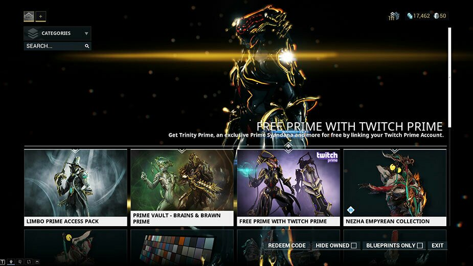 warframe-codes