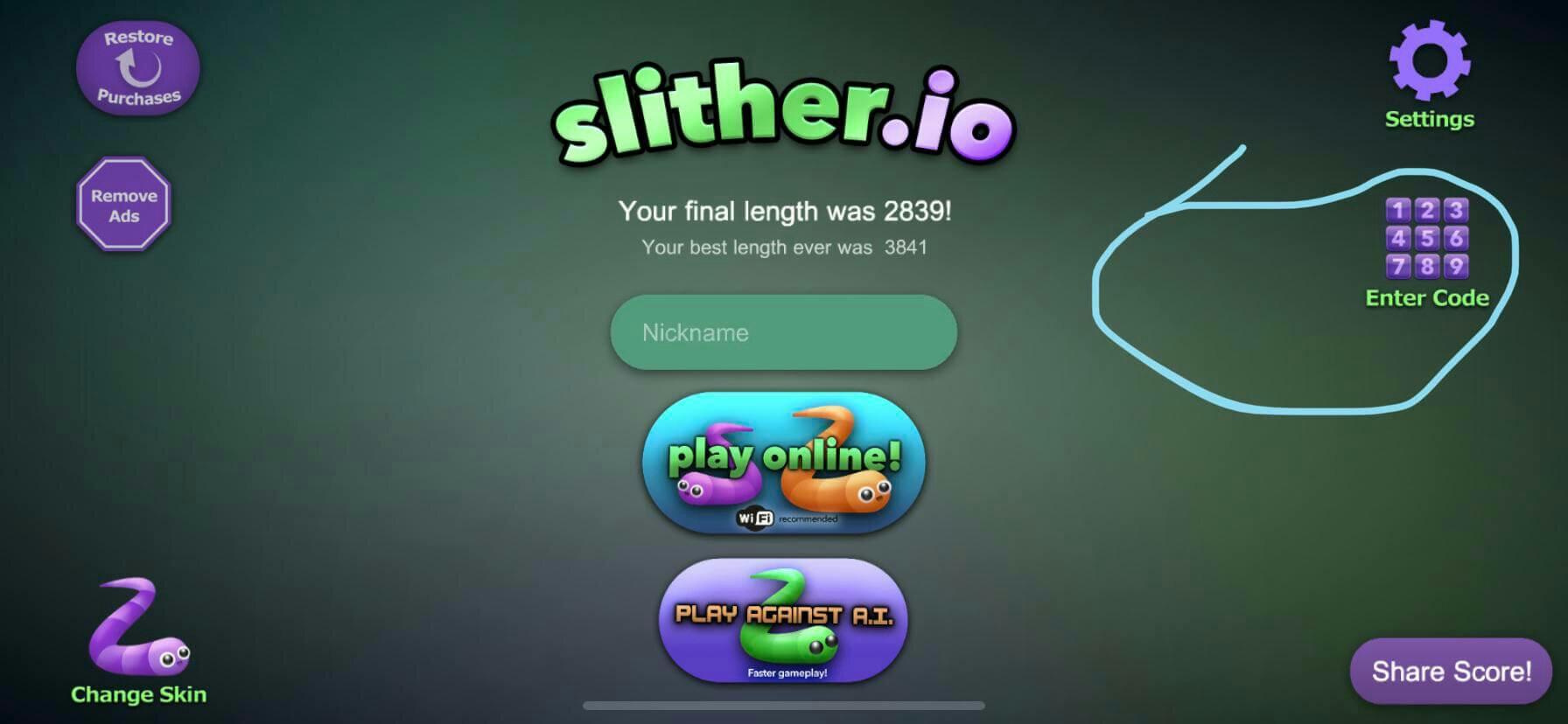 slither-io-codes