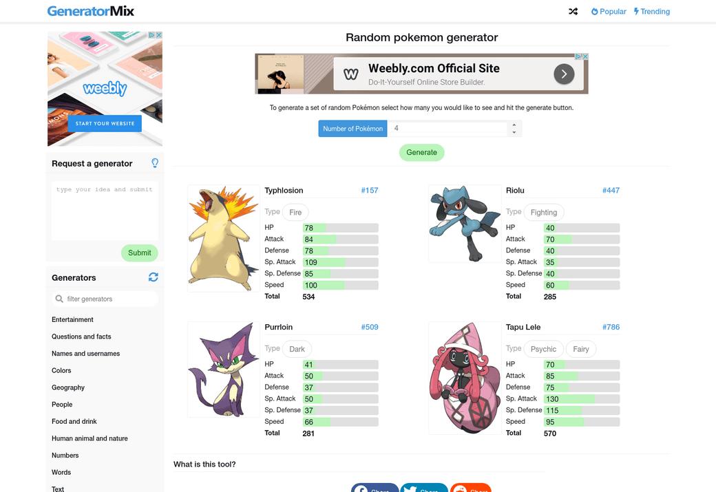 random-pokemon-generator