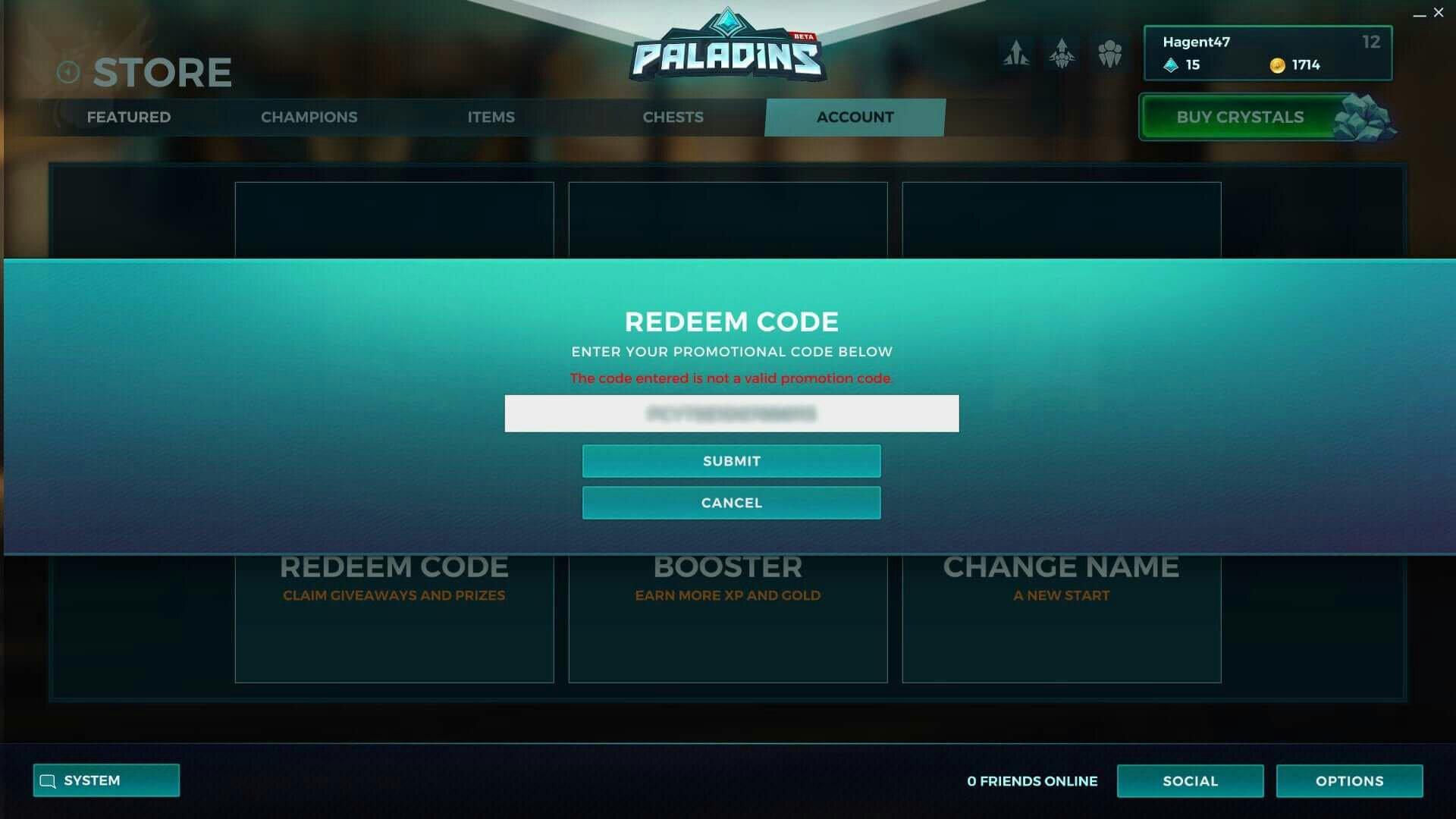 paladins-codes